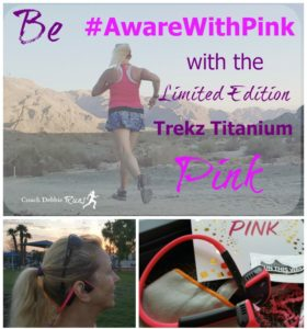 Be #AwareWithPink with Trekz Titanium Pink Headphones
