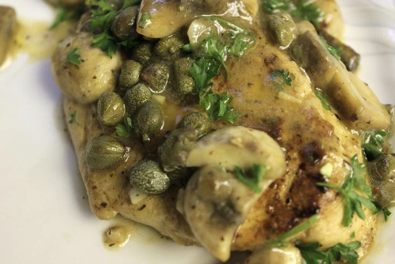 "This easy vegan Chicken Piccata can be made with Gardein ""chicken"" fillets, tofu, tempeh, or seitan."