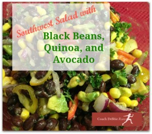 Southwest Salad with Black Beans, Avocado, and Quinoa