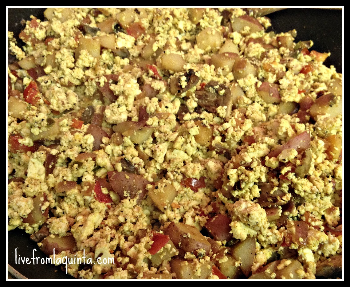 Perfect for dinner or breakfast, this tofu scramble is easy and delicious.