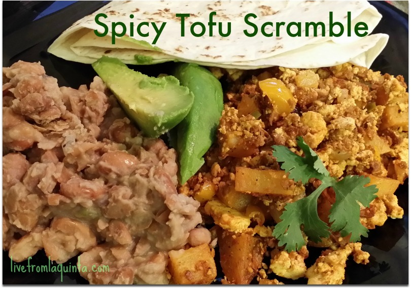 Who doesn't love a delicious tofu scramble? Here's an easy spicy version.