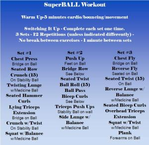 Friday Fitness: The SuperBall Workout!