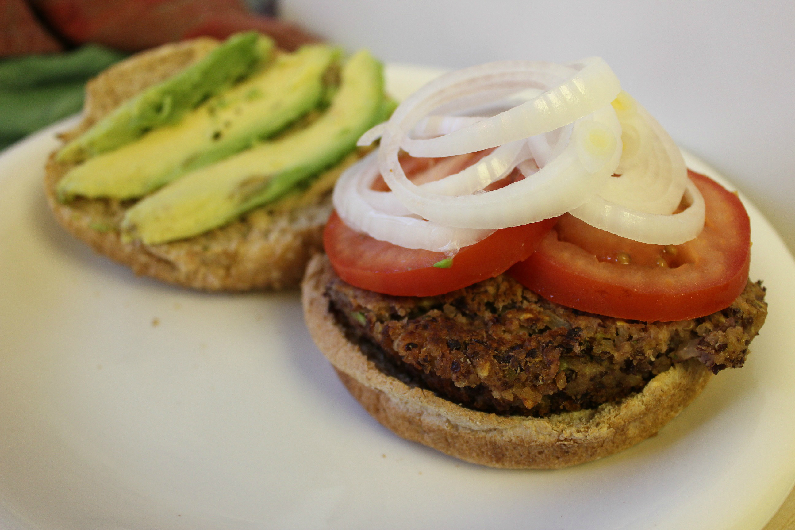 Here's a great burger option for the vegetarian at your barbecue! This BBQ Kidney Bean Quinoa Burger is vegan and full of veggie goodness.