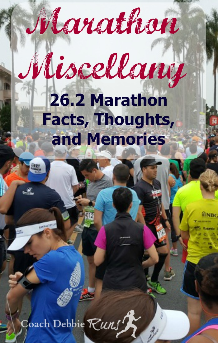 Here is some marathon miscellany for you, 26.2 facts, thoughts, and memories about the marathon.