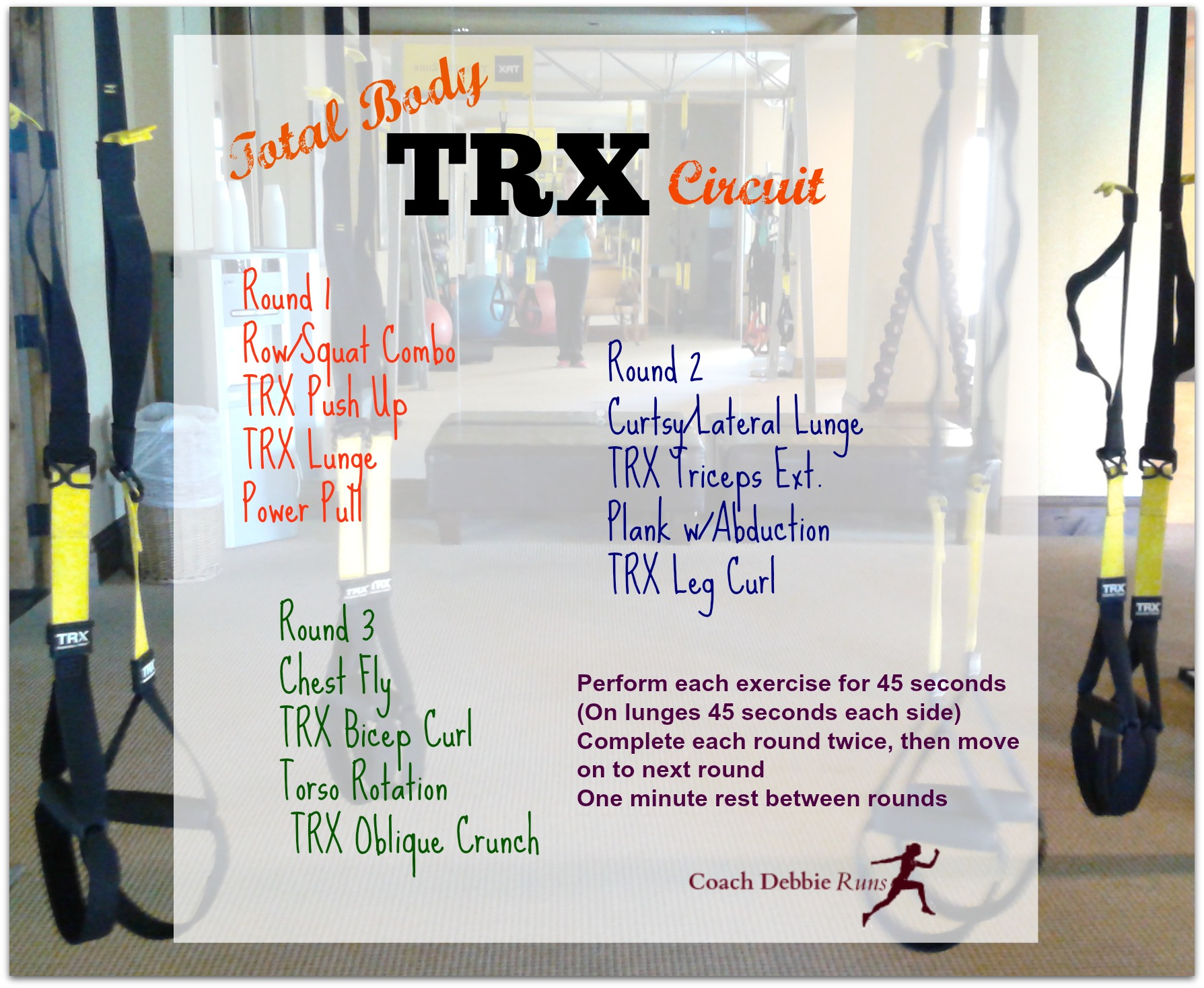 This TRX Indoor Workout will strengthen your core, improve your balance and make you a better runner.