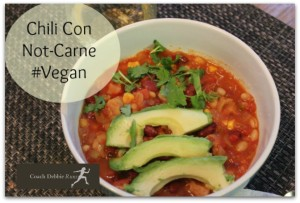 Meatless Monday: Chili con Not-Carne. Plus #BloggyBootCamp!