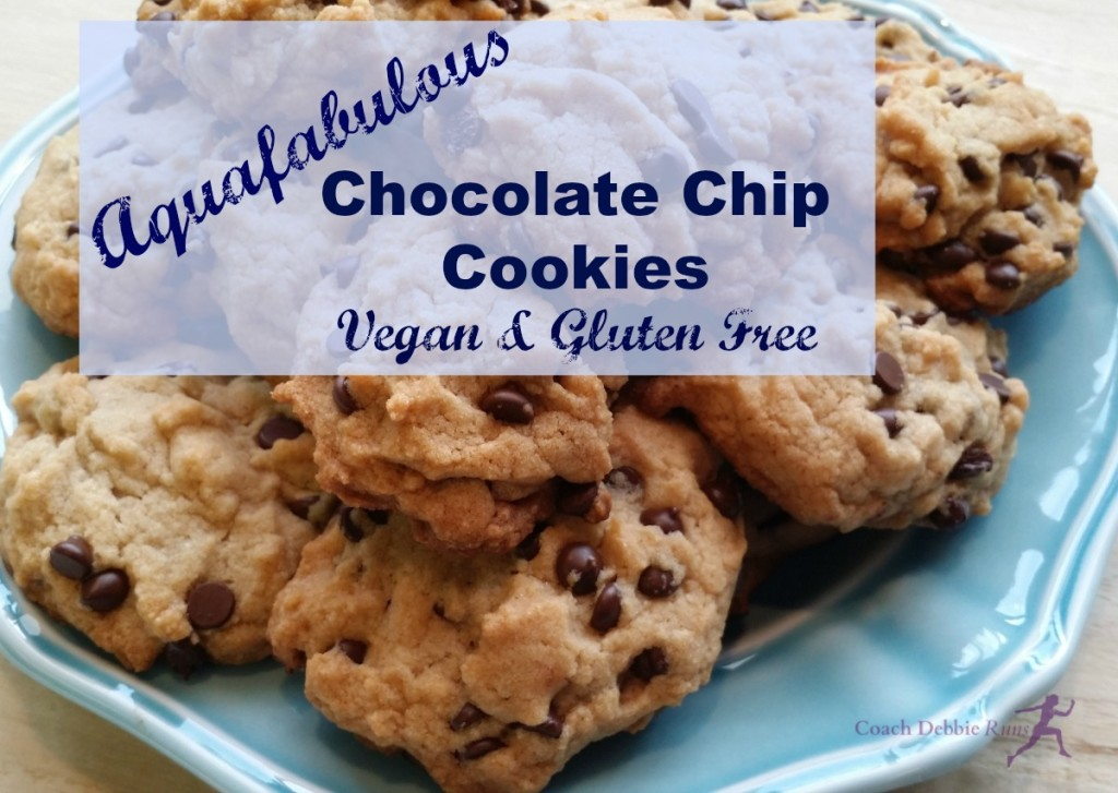 These Aquafabulous Chocolate Chip Cookies are vegan and gluten free. They are made using aquafaba as an egg replacement.