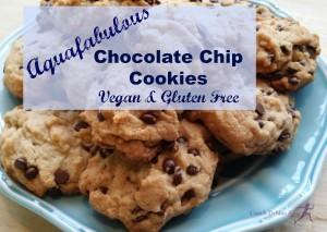 Aquafabulous Chocolate Chip Cookies. Vegan and Gluten Free