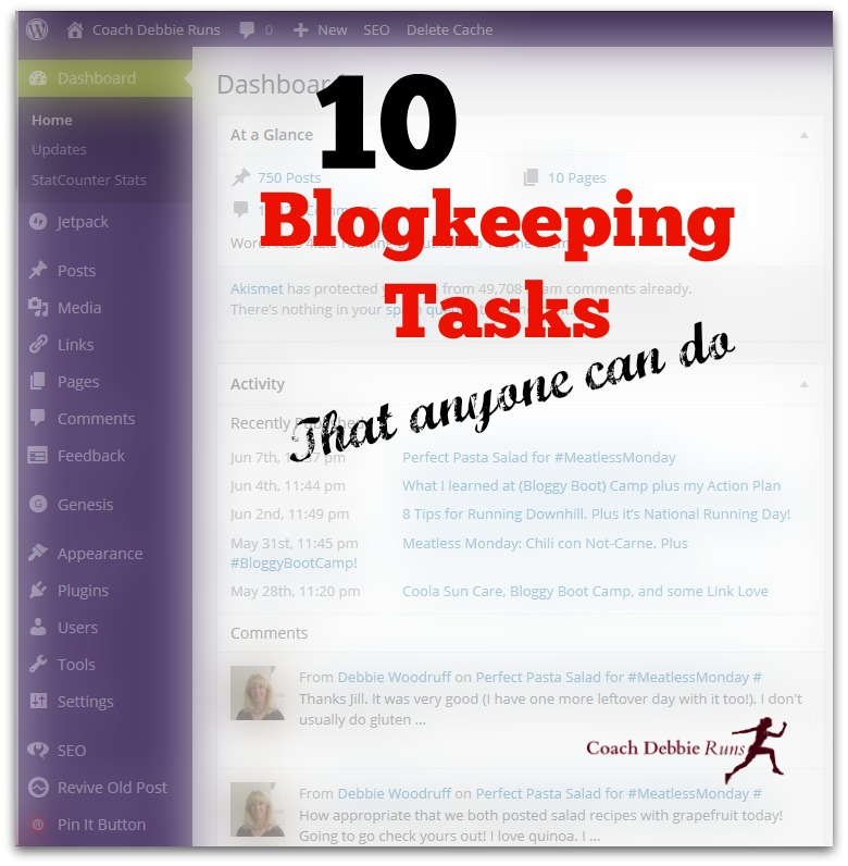 Keep your blog clean and fast with these 10 blogkeeping tasks that anyone can do.