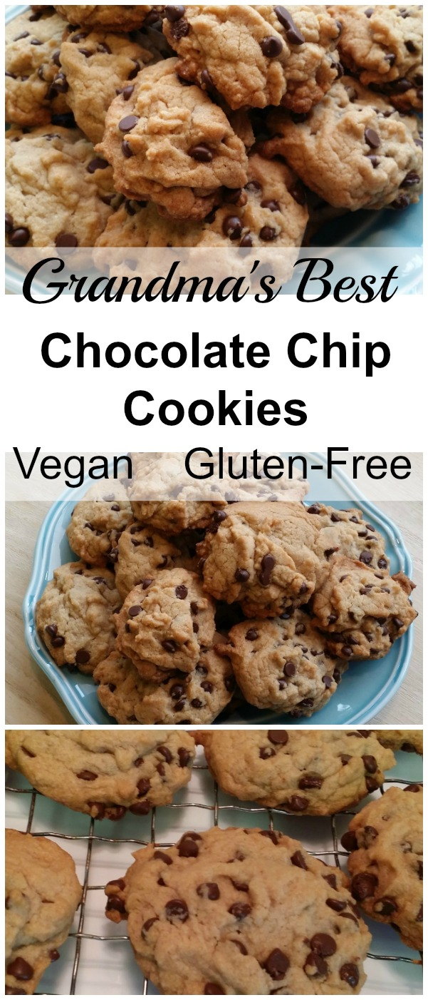 These scrumptious chocolate chip cookies taste just like grandma used to make! Plus they're vegan and gluten-free!