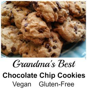 Grandma's Best Chocolate Chip Cookies. Vegan and Gluten Free