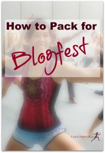 How to Pack for Blogfest (or other Fitness Blogging Conference)