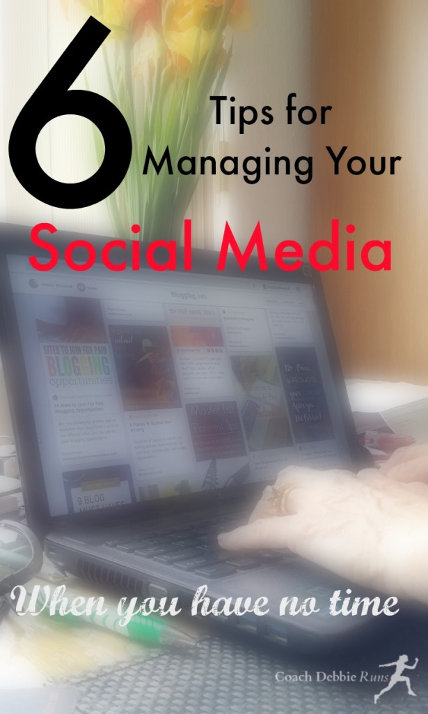 Here are 6 tips for managing your social media, even when you're busy.