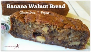 The Best Banana Walnut Bread! Gluten Free and Vegan