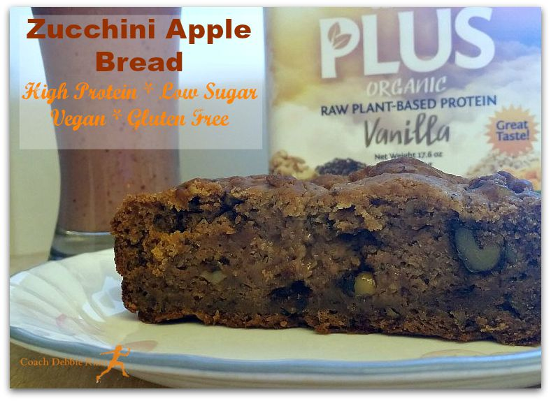 It's Aquafabulous! Zucchini Apple Bread that is vegan, gluten free, lower in sugar, and higher in protein. And delicious!