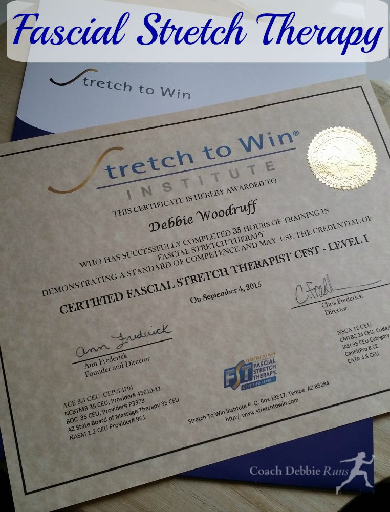 Learn a little about life changing Fascial Stretch Therapy. I am now a certified therapist!