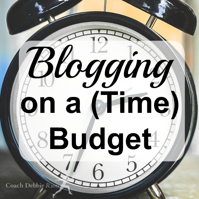 Blogging takes time. Lots of it. Here are some tips for making the best use of your time when you're blogging on a time budget.