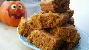 Pumpkin Maple Blondies. Vegan and Gluten Free