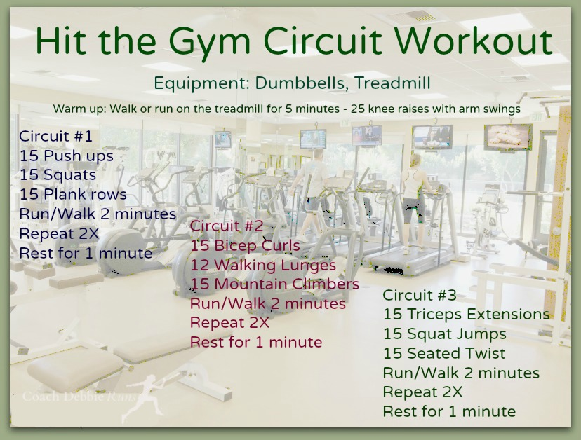 Hit the gym for a circuit workout that will combine strength and cardio movements to get you fit fast!