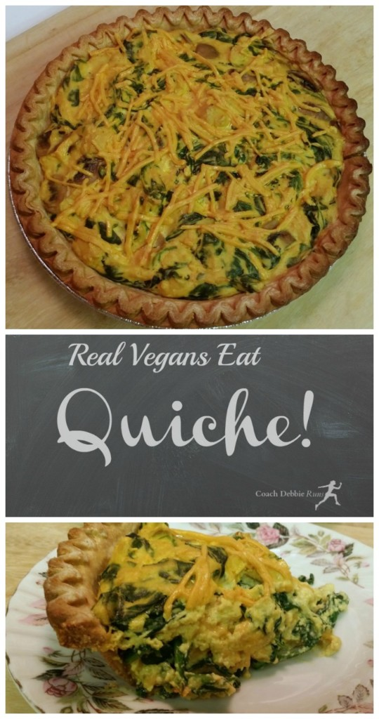 Another take on Quiche: The no-egg, no-bacon, no-dairy, but still delicious kind. Vegan Quiche Recipe.