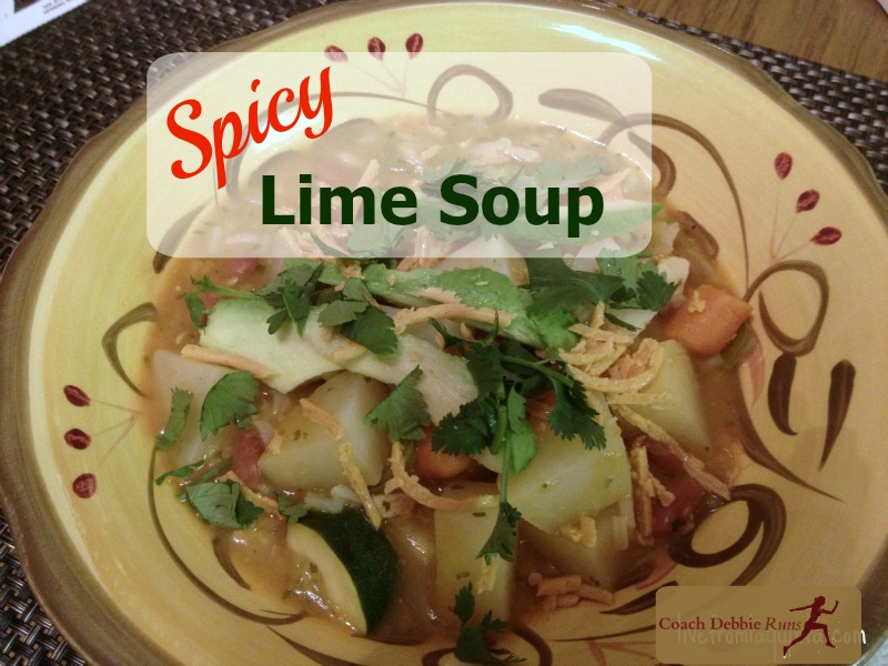 This spicy vegan lime soup will warm you up on a cold evening.