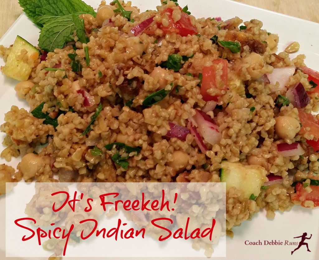 Inspired by a salad I had at Blogfest, this Spicy Indian Salad is vegan and delicious.
