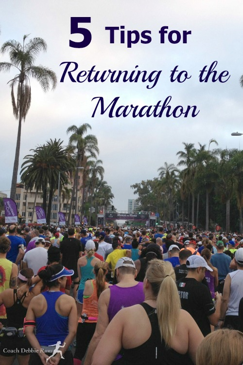 Here are 5 tips for returning to the marathon after a long lay off.
