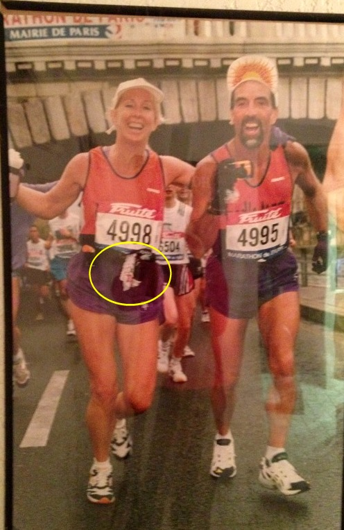 The days before learning the art of the snot rocket, I carried a dainty, flowered hankie during a marathon.