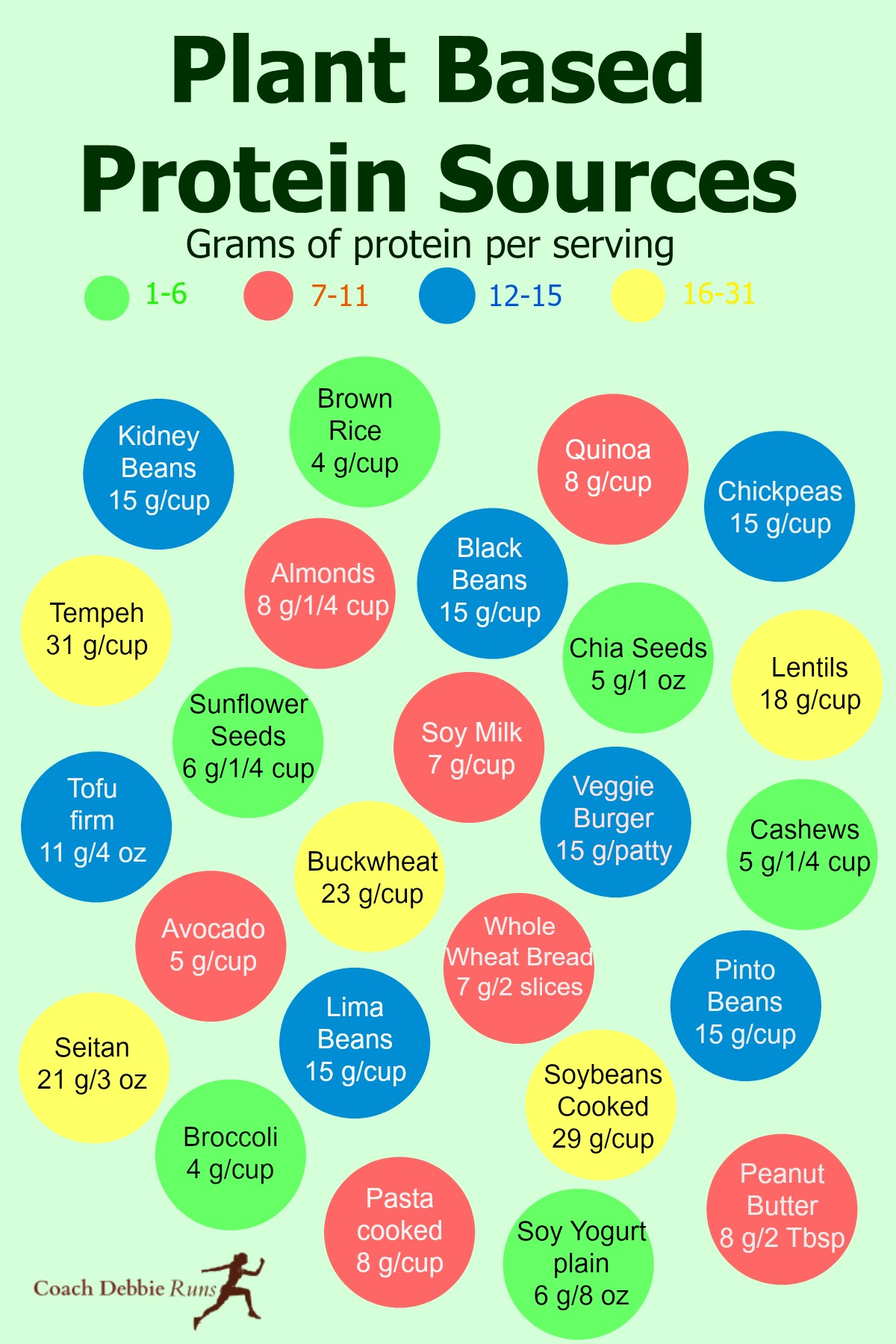 Where do vegans get their protein? Everywhere! This infographic shows many excellent sources of plant-based protein.