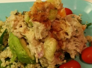 Jackfruit Vegan Tuna Salad with Avocado and Quinoa