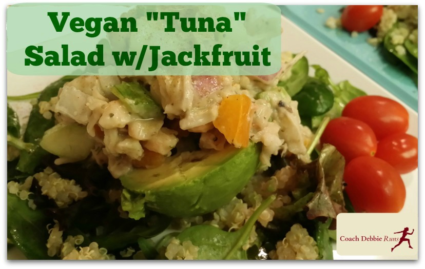 Discover the amazing jackfruit with this vegan tuna salad. It is completely plant-based and gluten-free (and delicious!)