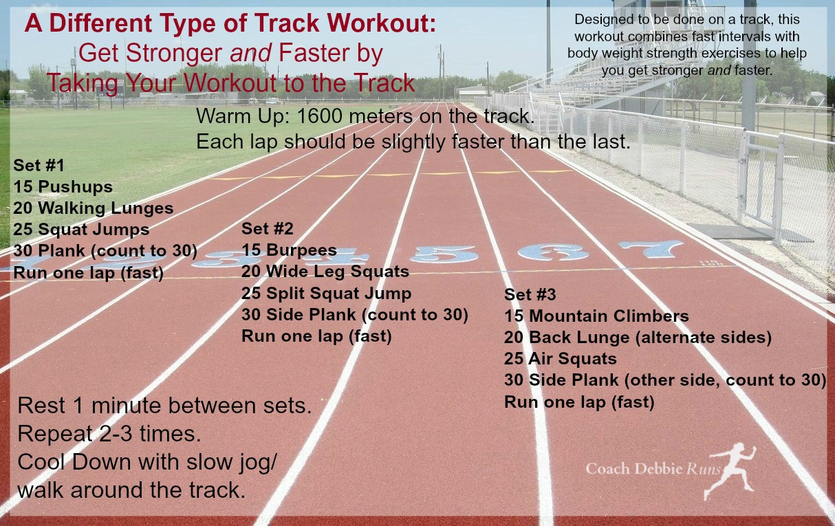Here S A Diffe Type Of Track Workout It Will Not Only Make You Faster