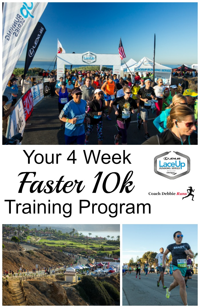 Yes you can get faster in just a month with this 4 week Faster 10k Training Program!