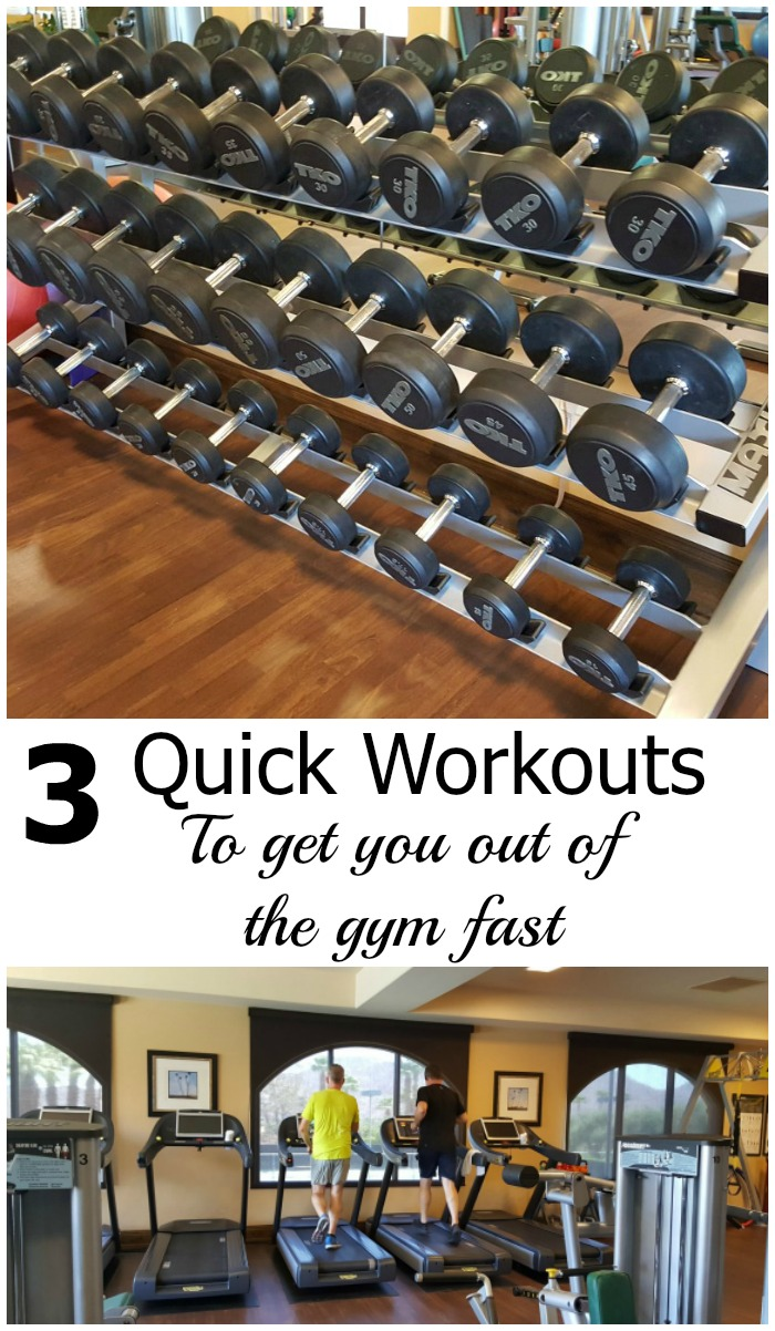 Holiday rush? Overcome the number one exercise excuse of not enough time with these 3 quick workouts that will get you in and out of the gym quickly.