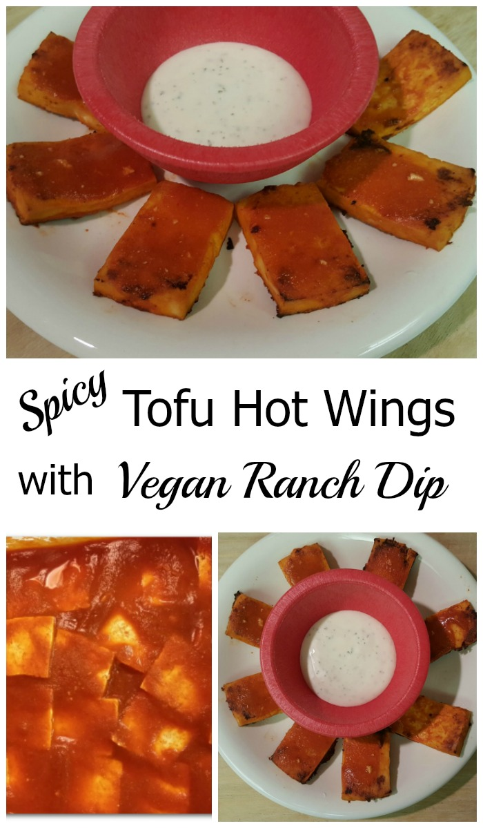 These spicy tofu hot wings are perfect for an appetizer during playoff season or any time of the year!