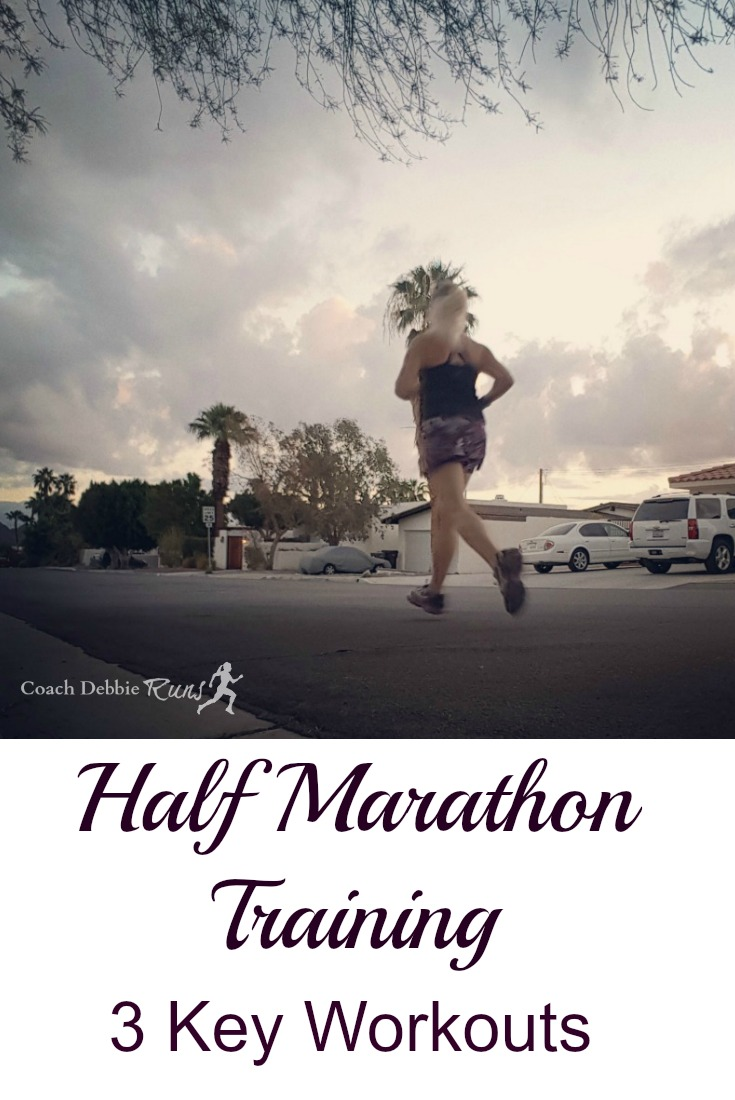 Are you training for a half marathon this year? Here are three key workouts that will take your half marathon training to the next level.