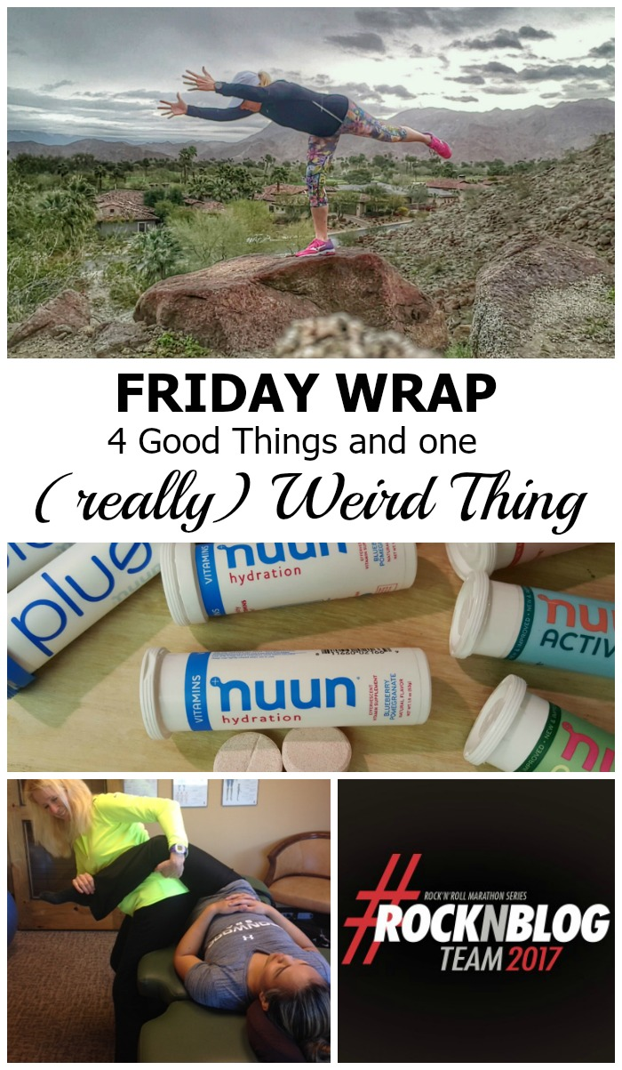 It's been a great week! Here's the Friday Wrap Up. Four good things, plus one weird thing.