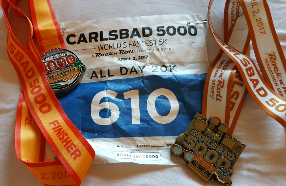Race Recap! The Carlsbad 5000 All Day 20k. On Sunday I ran four 5ks in a row! Read all about the fun and challenges!