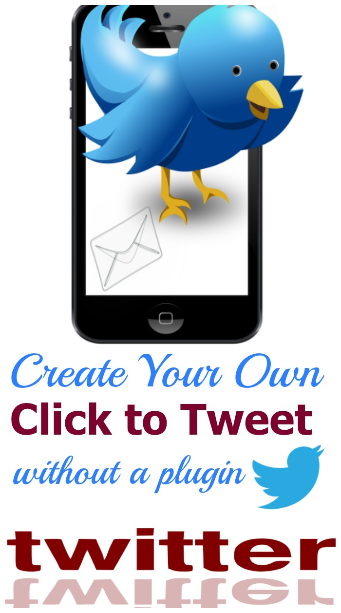 Would you like to use Click to Tweet but you use Blogger or WordPress.com? Learn how you can easily create your own!
