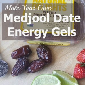 Medjool Date Energy Gels with Strawberries and Chia! Vegan and Gluten-Free