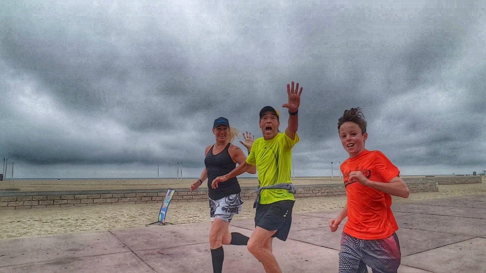 Running with Cash in Huntington Beach!