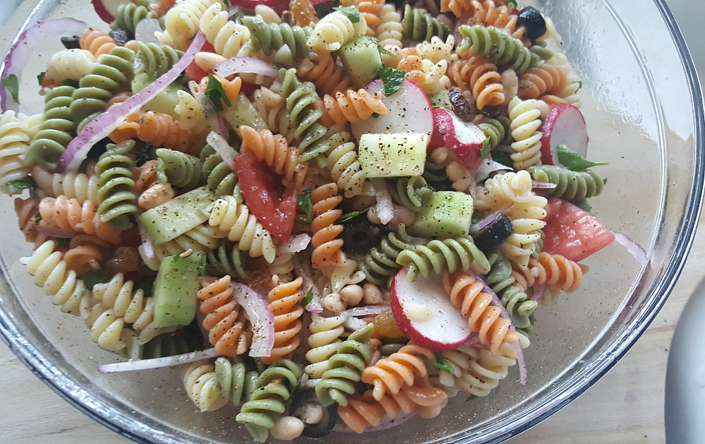 This Zesty Pasta Salad is one of those recipes that I love so much I make it frequently. It is easy to make, vegan, and delicious. Use gluten-free pasta if you'd like.