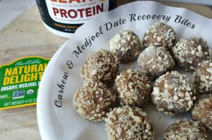 4 Ingredient Cashew and Medjool Date Recovery Bites