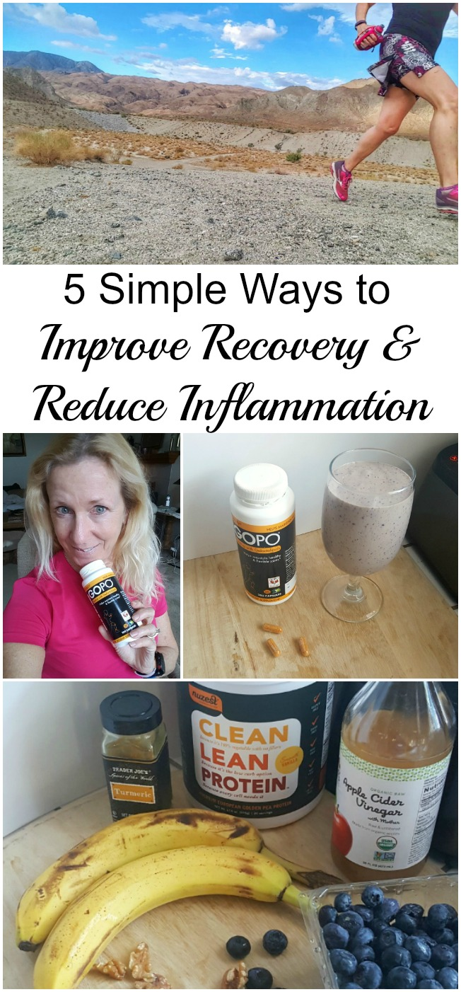 Life causes inflammation. The food we eat, the air we breathe, even the exercise that we do. Here are 5 simple ways you can improve recovery and reduce inflammation. #ad #jointcare #GowithGOPO