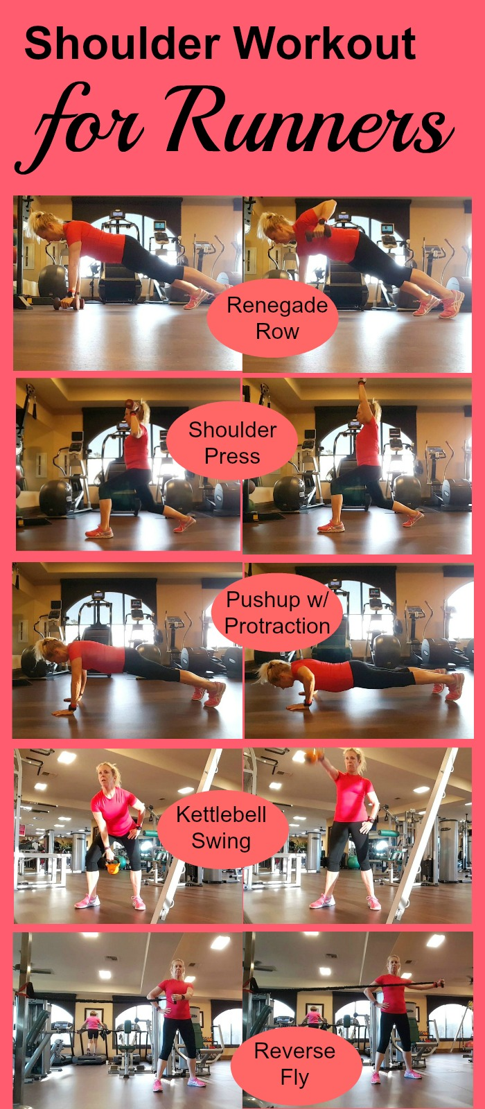A lot of runner's workout focus on glutes and core, but don't forget about the upper back and shoulders. Here is an upper back and shoulder workout that will improve your posture and your running form, plus help avoid pain and injury.