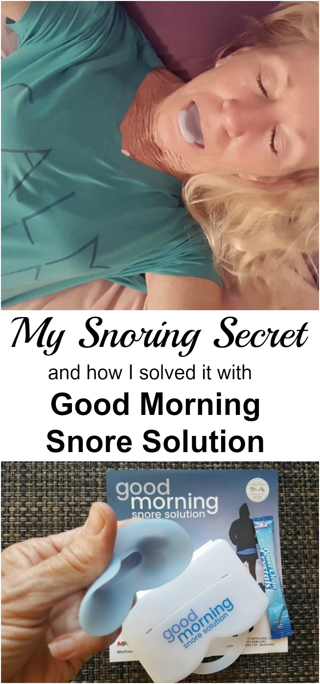 I'm going to reveal my deepest, darkest secret. It is something that is a bit embarrassing to me. Here you go: I snore. Now my snoring secret is out. Here is how I solved it with the Good Morning Snore Solution. #ad #BetterSleep #StopSnoringStartLiving