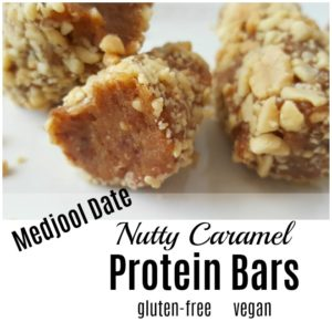A Better Payday! 3 Ingredient Medjool Date Nutty Caramel Protein Bars