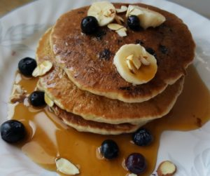 Banana Blueberry Protein Pancakes – Vegan and Gluten-Free