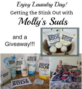 Enjoy Laundry Day! Getting the Stink Out with Molly's Suds {#Giveaway}