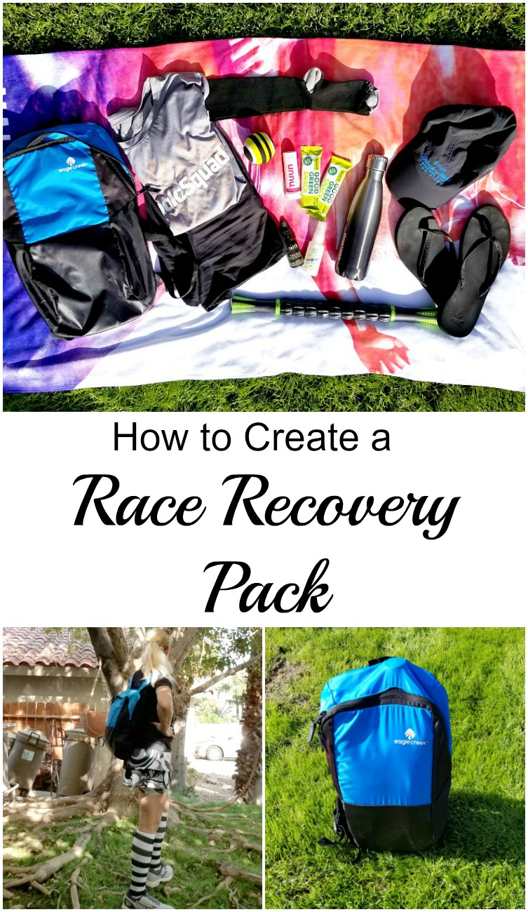 Here are some tips to help you create your Race Recovery Pack. Bringing it with you to your next race will help you recovery faster. #running #runningtips #racing #runningcoach